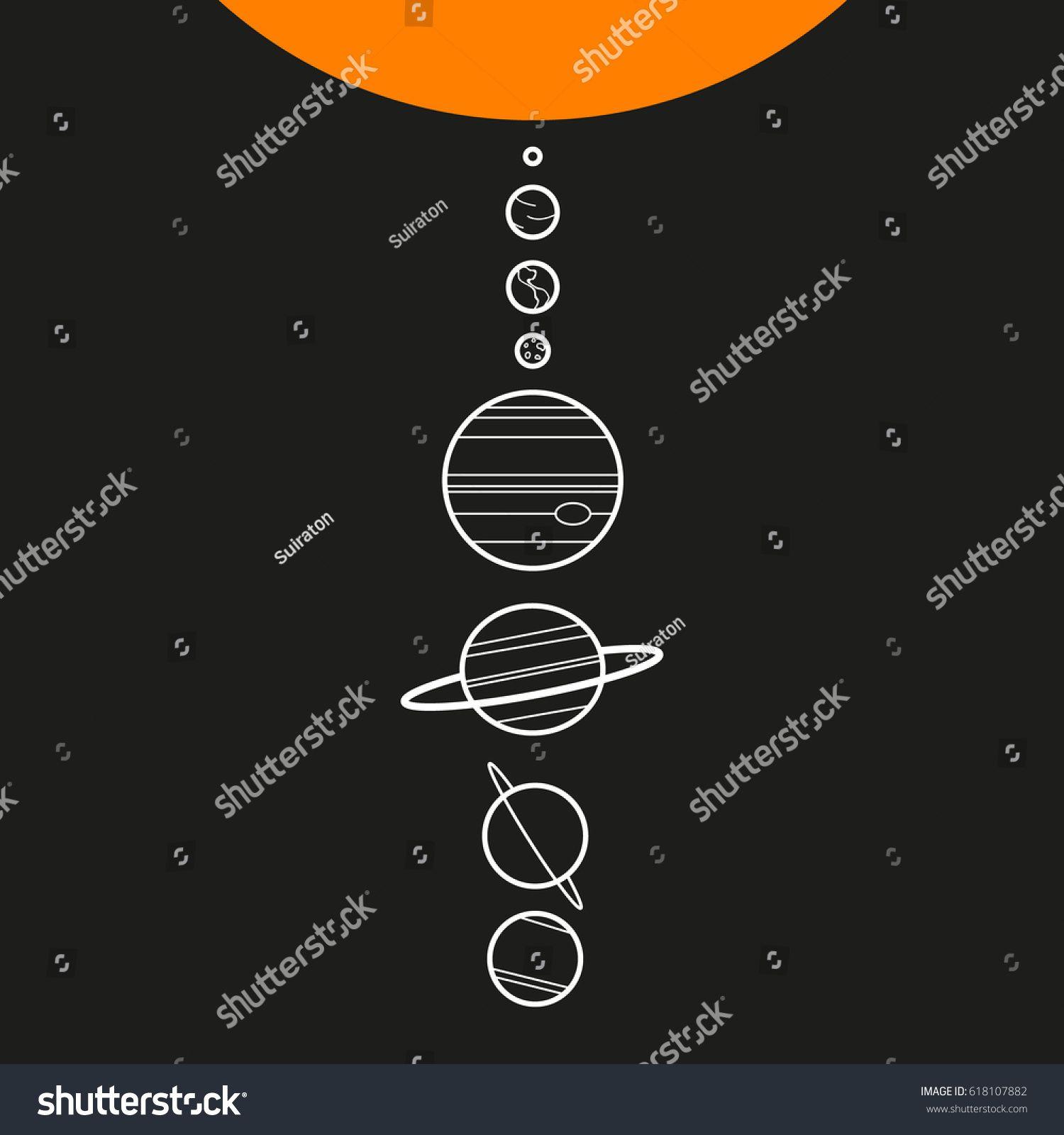 1500x1600 Minimalist. Solar System. Vector. Equipo De Trabajo