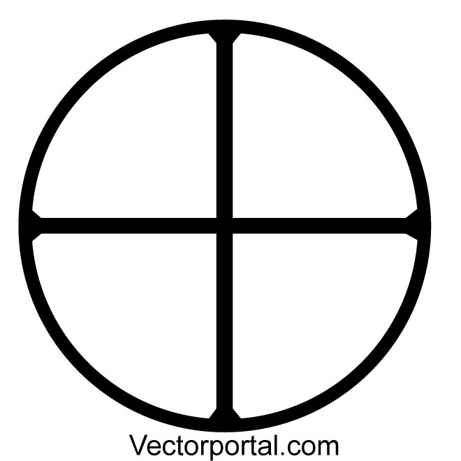 660x660 Solar Cross Vector Symbol