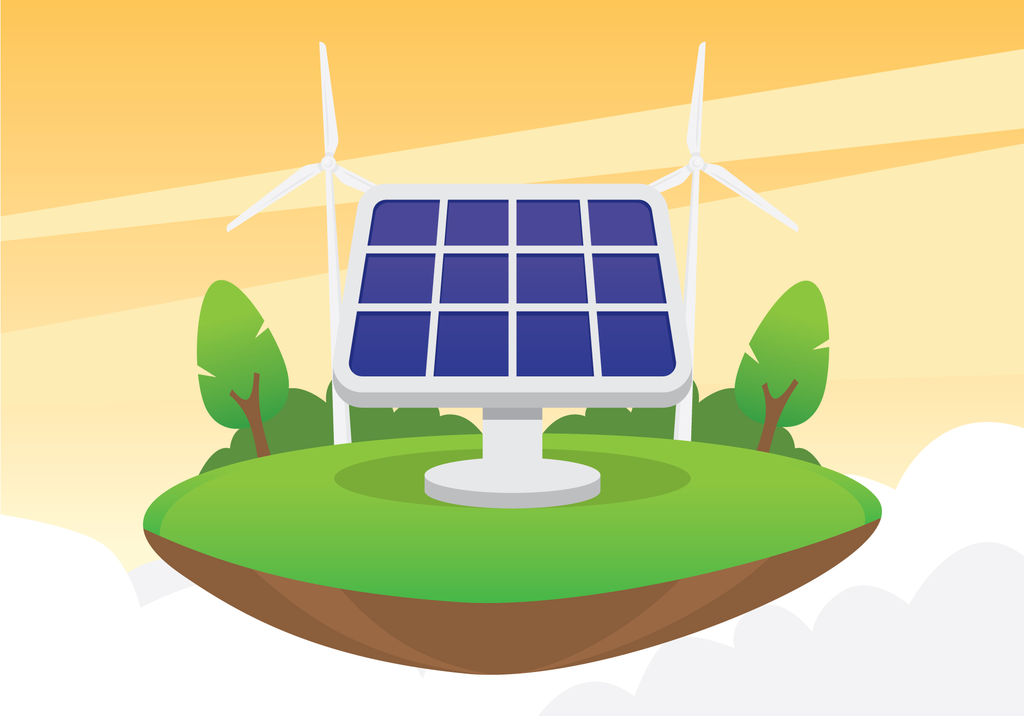 2000x1400 Solar Cell Free Vector Art