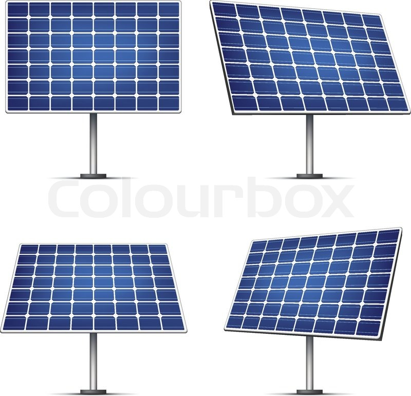 800x771 Solar Panels Isolated On White Background. Vector. Stock Vector
