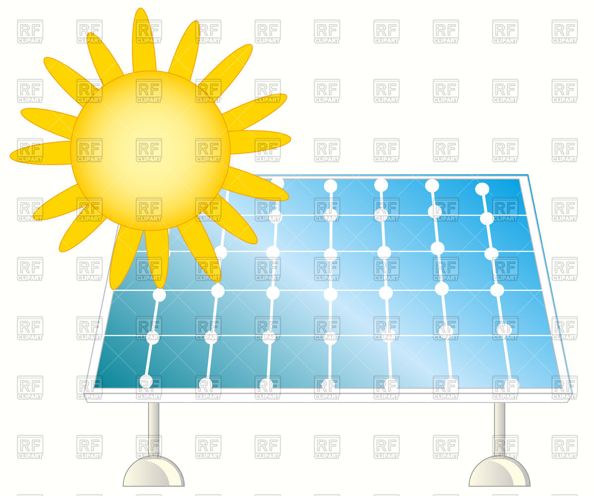 1200x1003 Solar Panel For Collection Of The Energy From Sun Vector Image