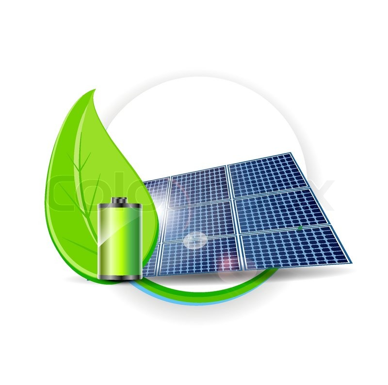 800x795 Solar Panel Vector Electricity Environmental Concept Stock