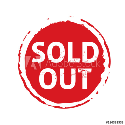 500x500 Red Stamp With Text Sold Out. Vector Illustration.