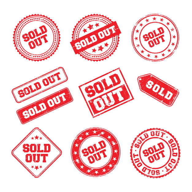 626x626 Sold Out Logo Badge Vector Premium Download