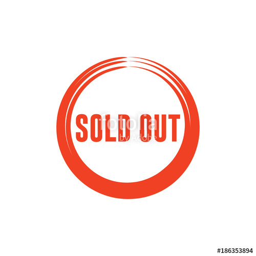 500x500 Sold Out Vector Template Design Stock Image And Royalty Free