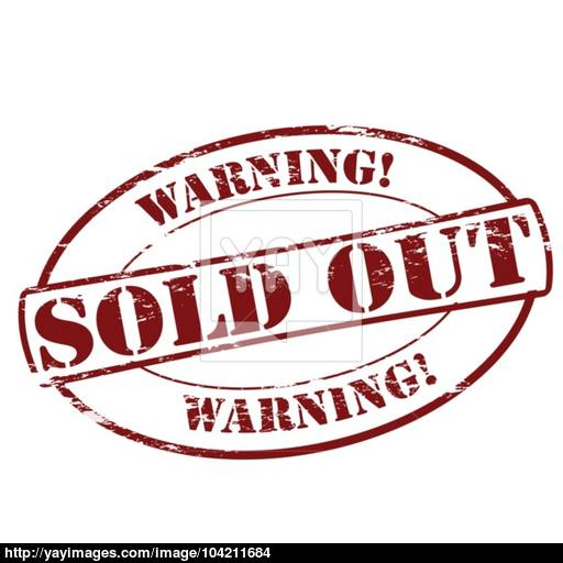 512x512 Warning Sold Out Vector