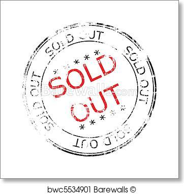 362x382 Art Print Of Sold Out Grunge Stamp Vector Illustration Barewalls