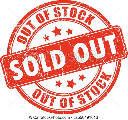 450x423 Sold Out Rubber Business Stamp. Sold Out Rubber Business Vector Stamp.
