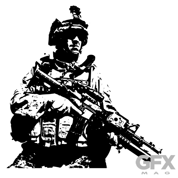 600x600 Free Vector Soldier Patrol Silhouette Free Download Vector Logos
