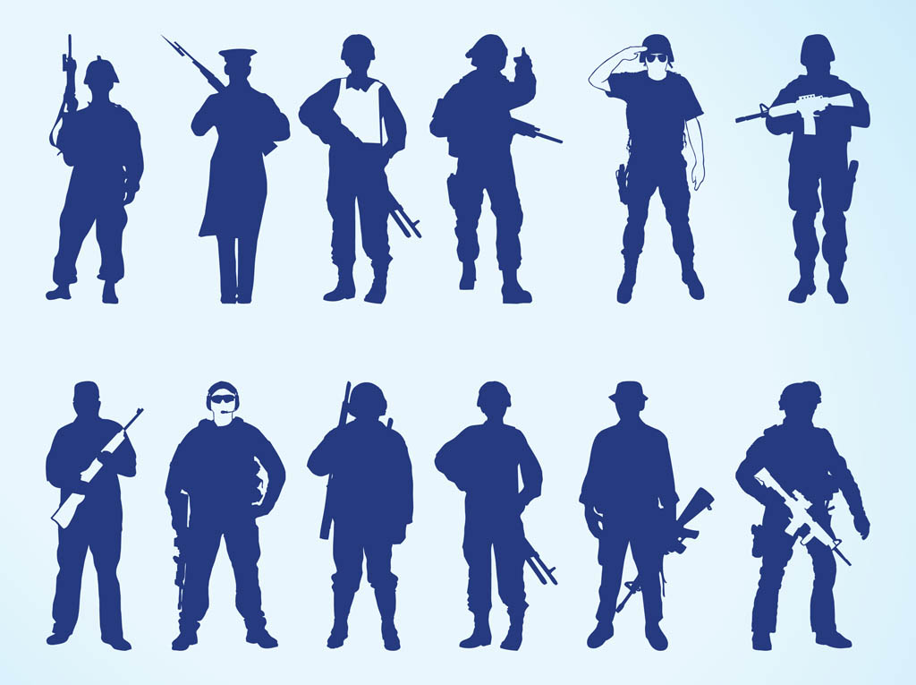 1024x765 Silhouettes Of Soldiers Vector Art Amp Graphics