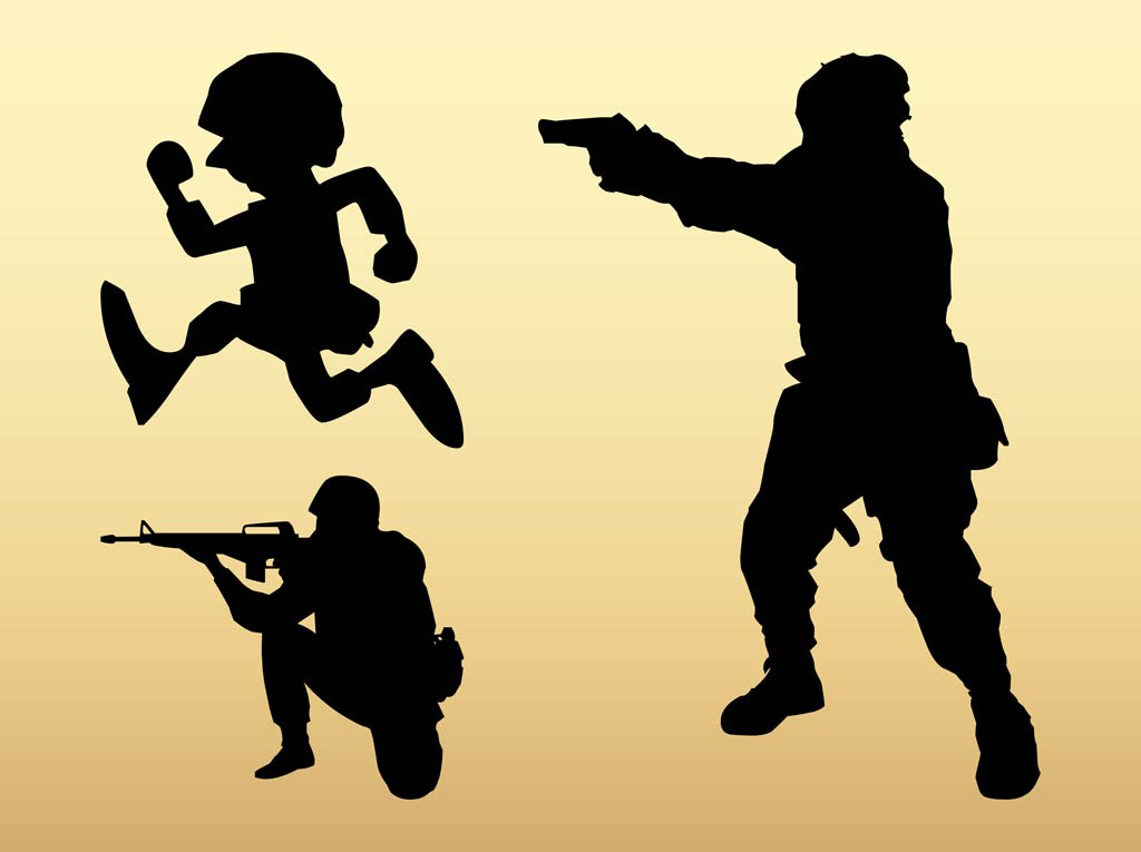 1024x765 Soldier Silhouettes Vector Art Amp Graphics