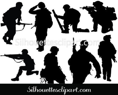 480x384 Soldier Vector Graphics Download Soldier Silhouette Silhouettes
