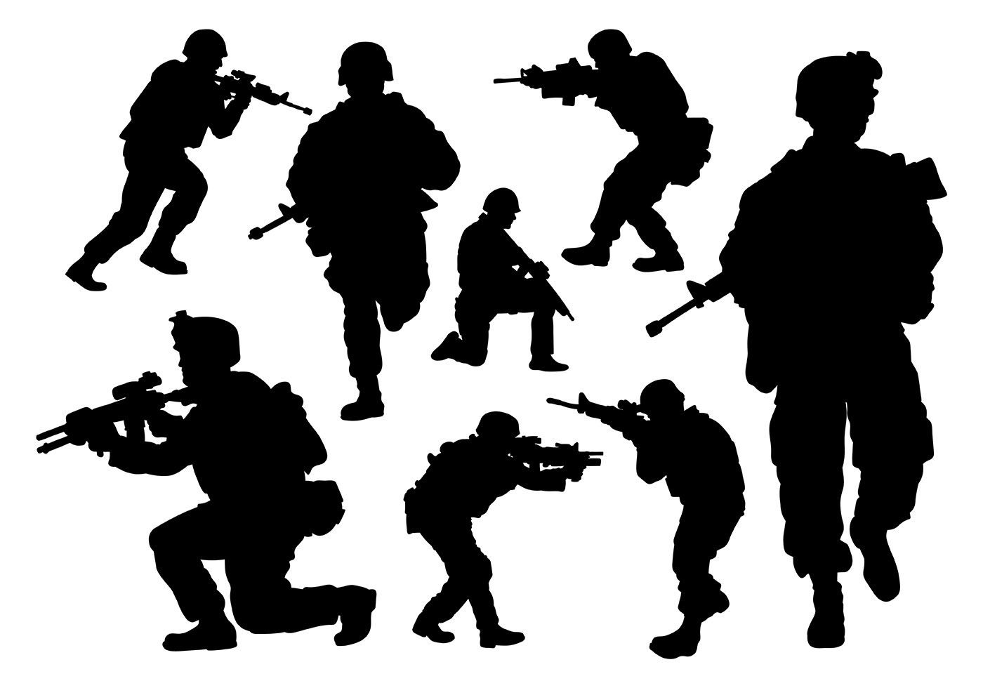1400x980 Army Free Vector Art
