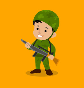 287x300 Army Soldier Royalty Free Vectors