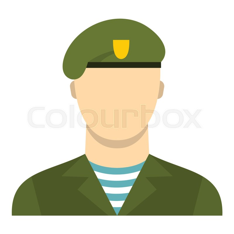 800x800 Army Soldier Icon. Flat Illustration Of Soldier Vector Icon For
