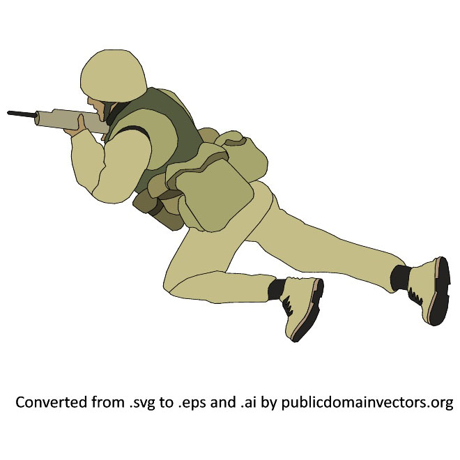 660x660 Crawling Soldier Vector