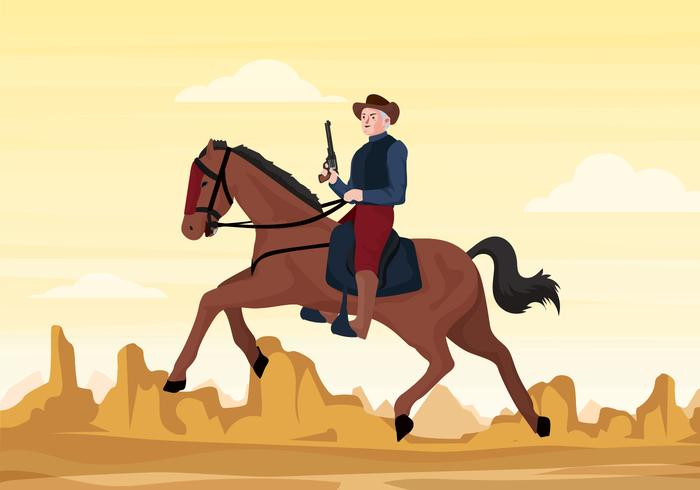700x490 Cavalry Soldier Vector Illustration