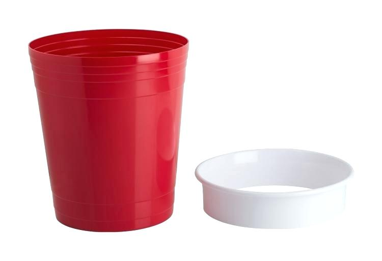 750x513 Red Party Cup Two Red Party Cups Isolated On Green Background
