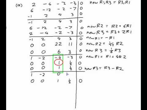480x360 Example Finding The General Solution To A Vector Matrix Equation