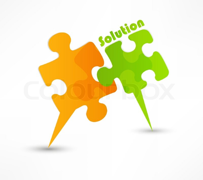 800x713 Abstract Puzzle Shape Colorful Vector Design The Solution Concept