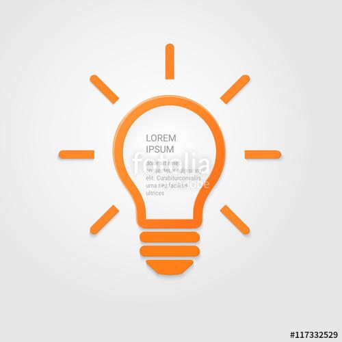 500x500 Light Bulb Idea Inspiration Concept. Lighted Lamp. Solution Sign