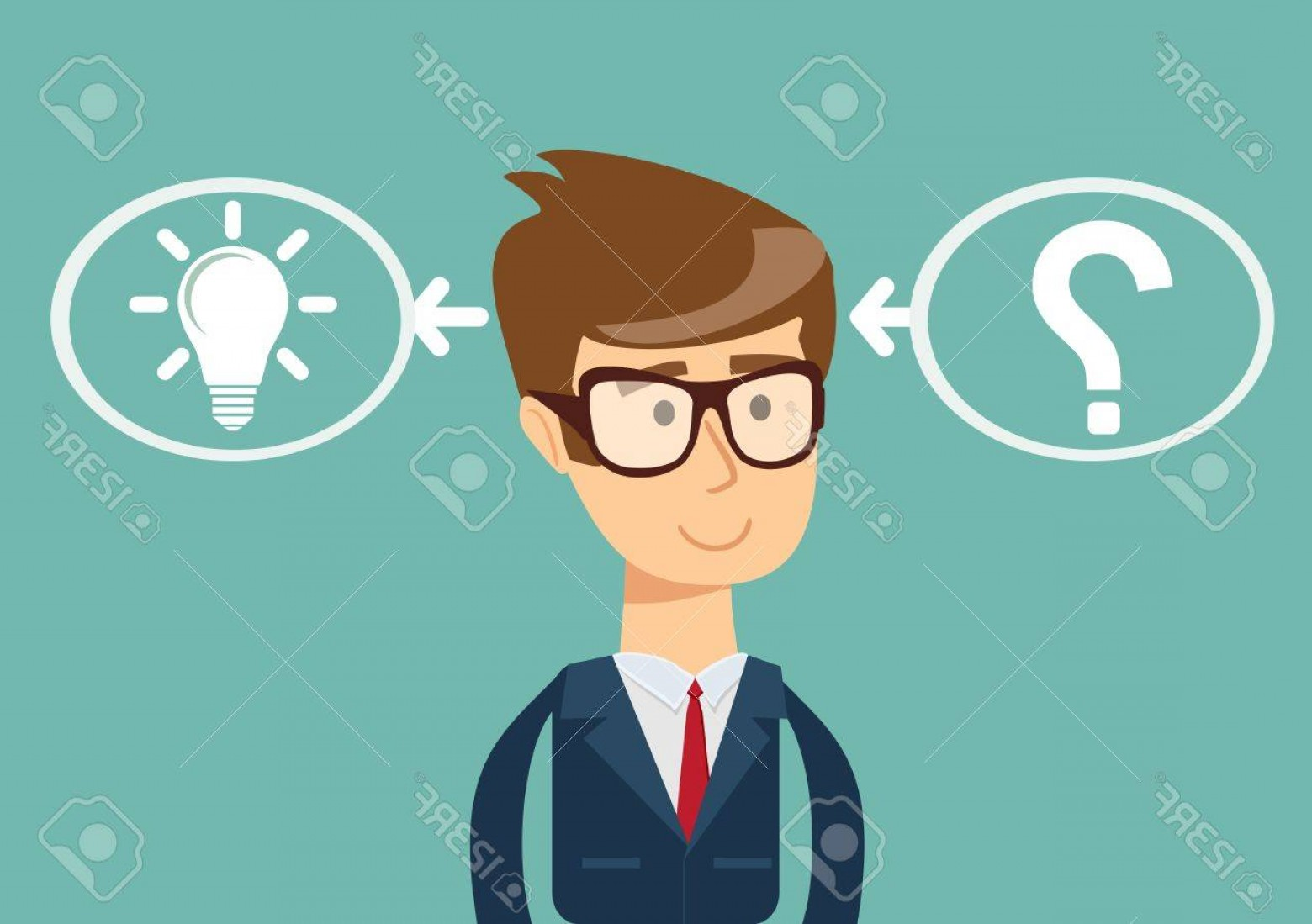 1560x1099 Photostock Vector The Process Of Finding A Solution Thinking Or