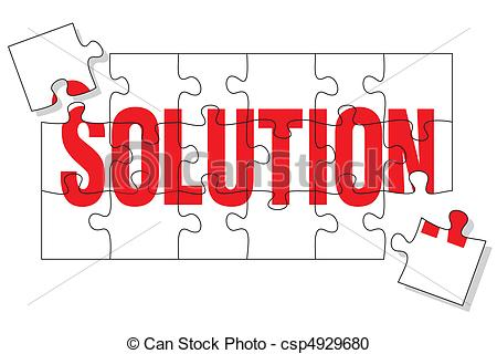 450x320 Solution Puzzle. Puzzle Pieces Representing The Solution, Two More
