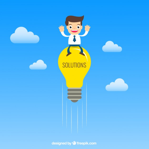 626x626 Business Solutions Concept Vector Free Download