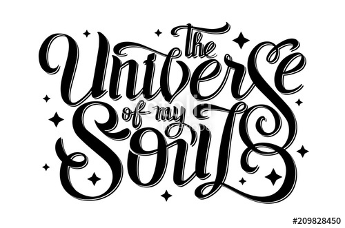 500x331 Lettering. Typography Design The Universe Of My Soul. Vector