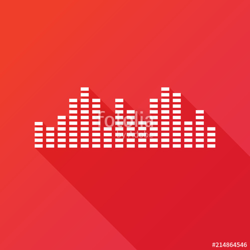 500x500 Music Sound Wave Music Bars Icon. Illustration. Flat Design