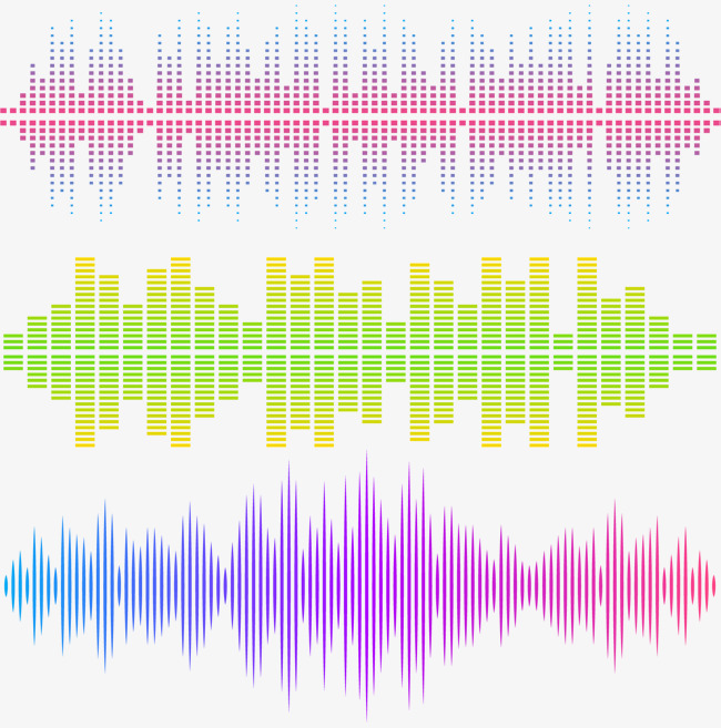 650x657 Bar Music Sound Waves, Vector Material, Color Sound Waves, Bar