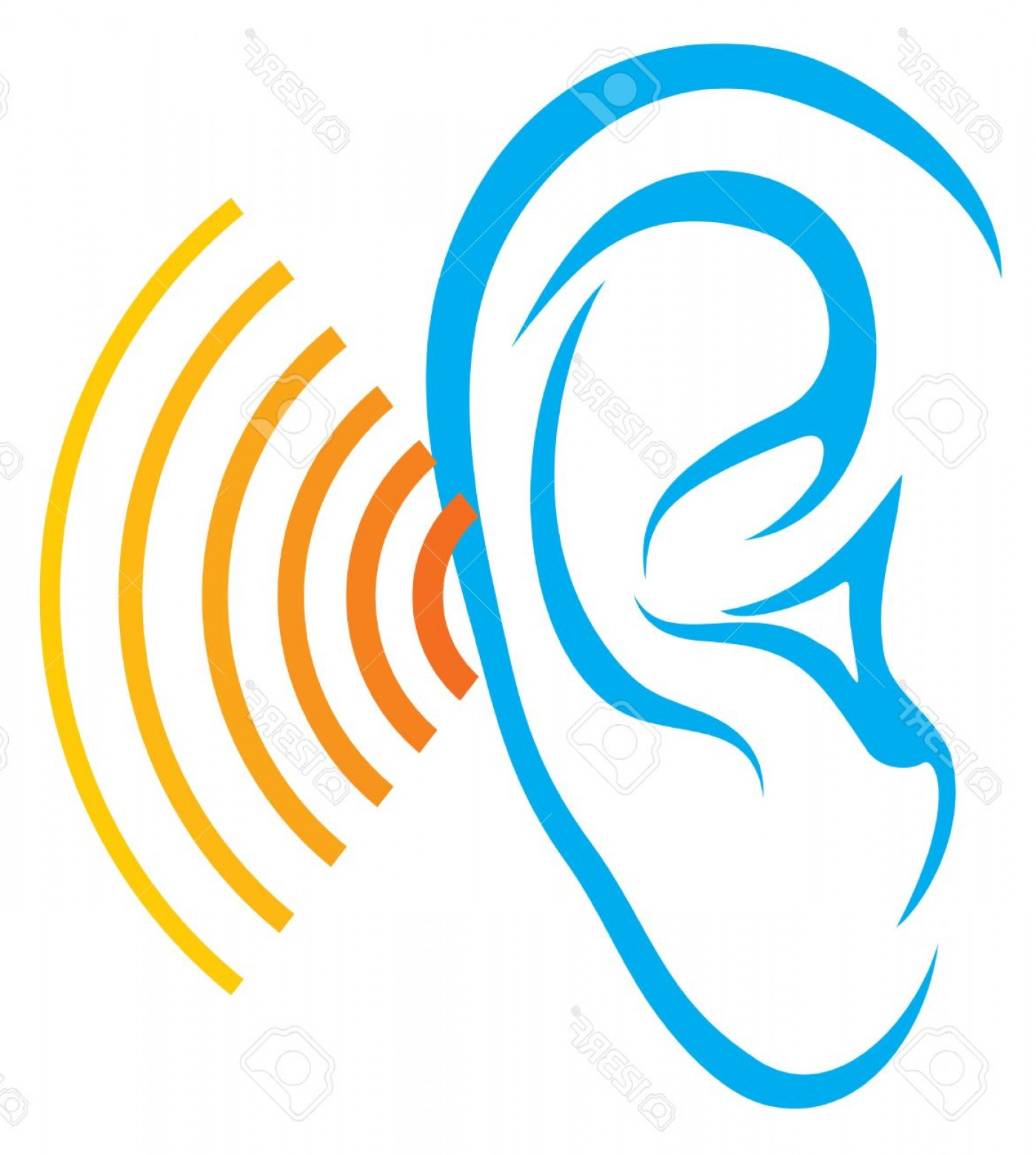 1399x1560 Photostock Vector Human Hearing Test Ear And Sound Icon Listen