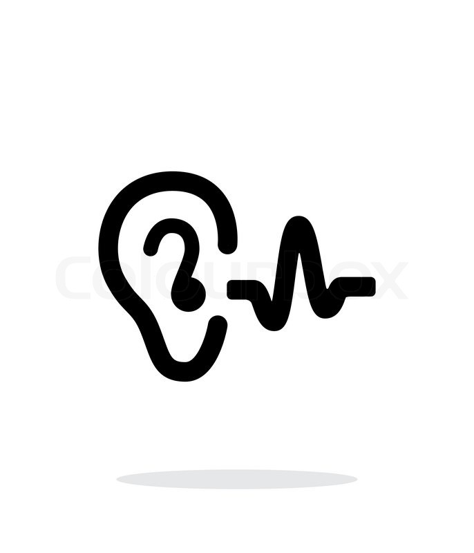 686x800 Ear Hearing Sound Icon On White Background. Vector Illustration