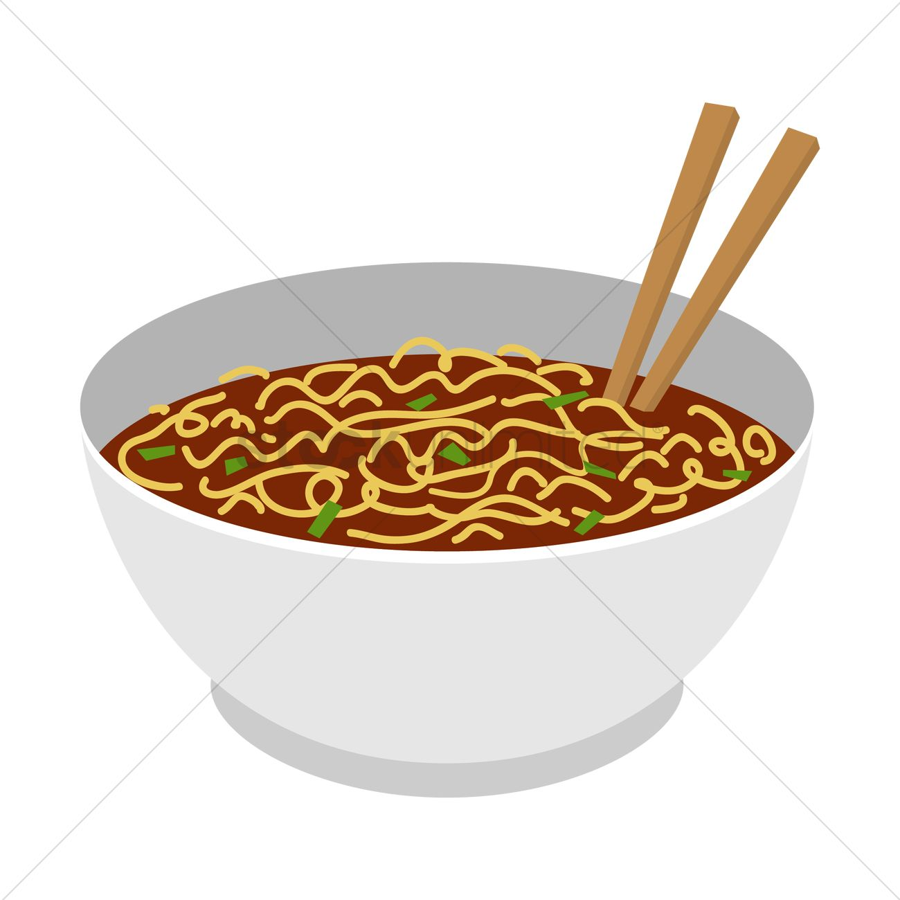 1300x1300 Noodle Soup Vector Image