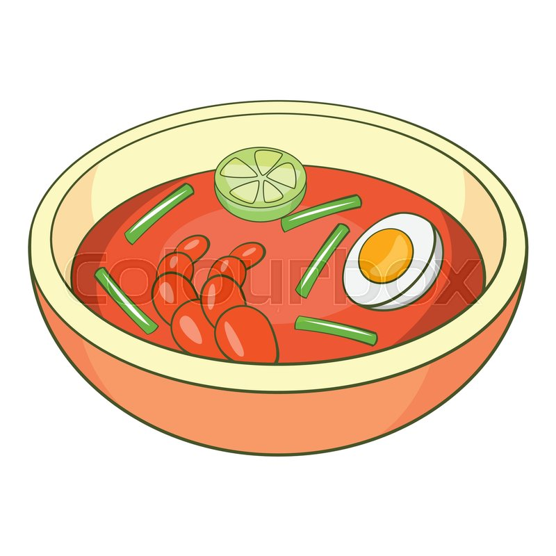 800x800 Asian Soup Icon. Cartoon Illustration Of Asian Soup Vector Icon