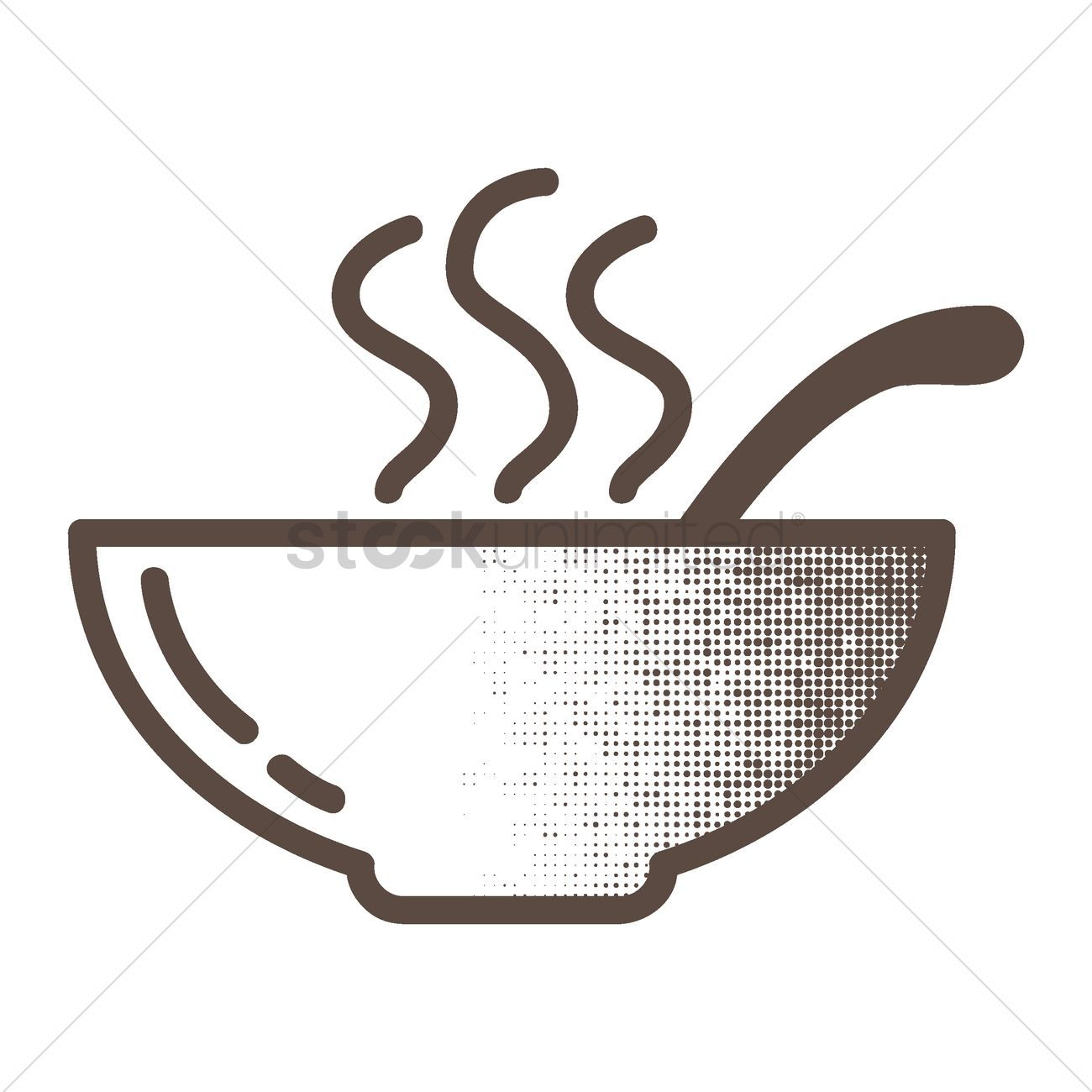1300x1300 Bowl Of Soup Vector Image