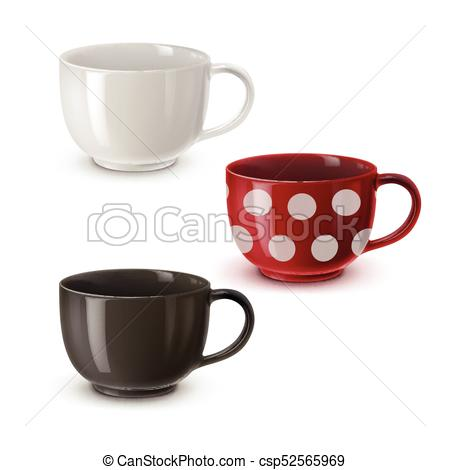 450x470 Bowls For Soup. Vector Illustration Of Colored Bowls For Soup