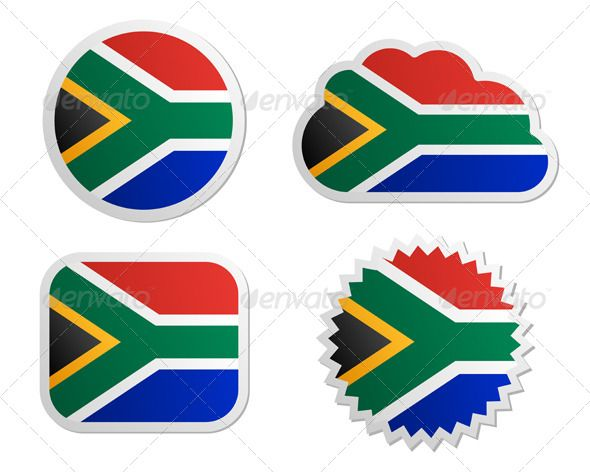 590x472 South Africa Flag Labels