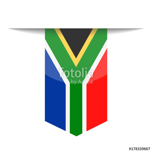 500x500 South Africa Flag Vector Bookmark Icon Stock Image And Royalty
