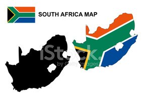 282x199 South Africa Map Vector, South Africa Flag Vector Stock Vectors