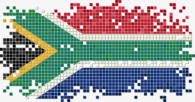 650x340 South African Flag Pixel Vector, Flag Vector, Flag Design, Pixel