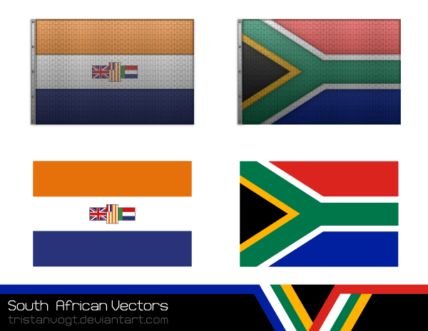 600x465 South African Flag Vector 123freevectors