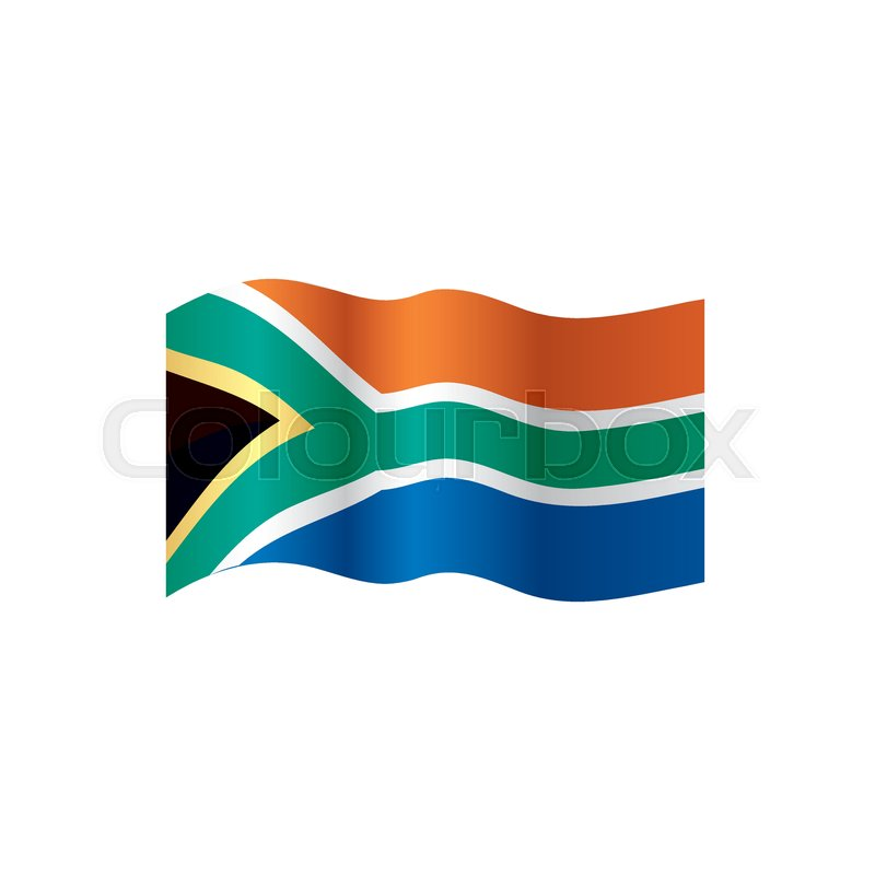 800x800 South Africa Flag, Vector Illustration On A White Background