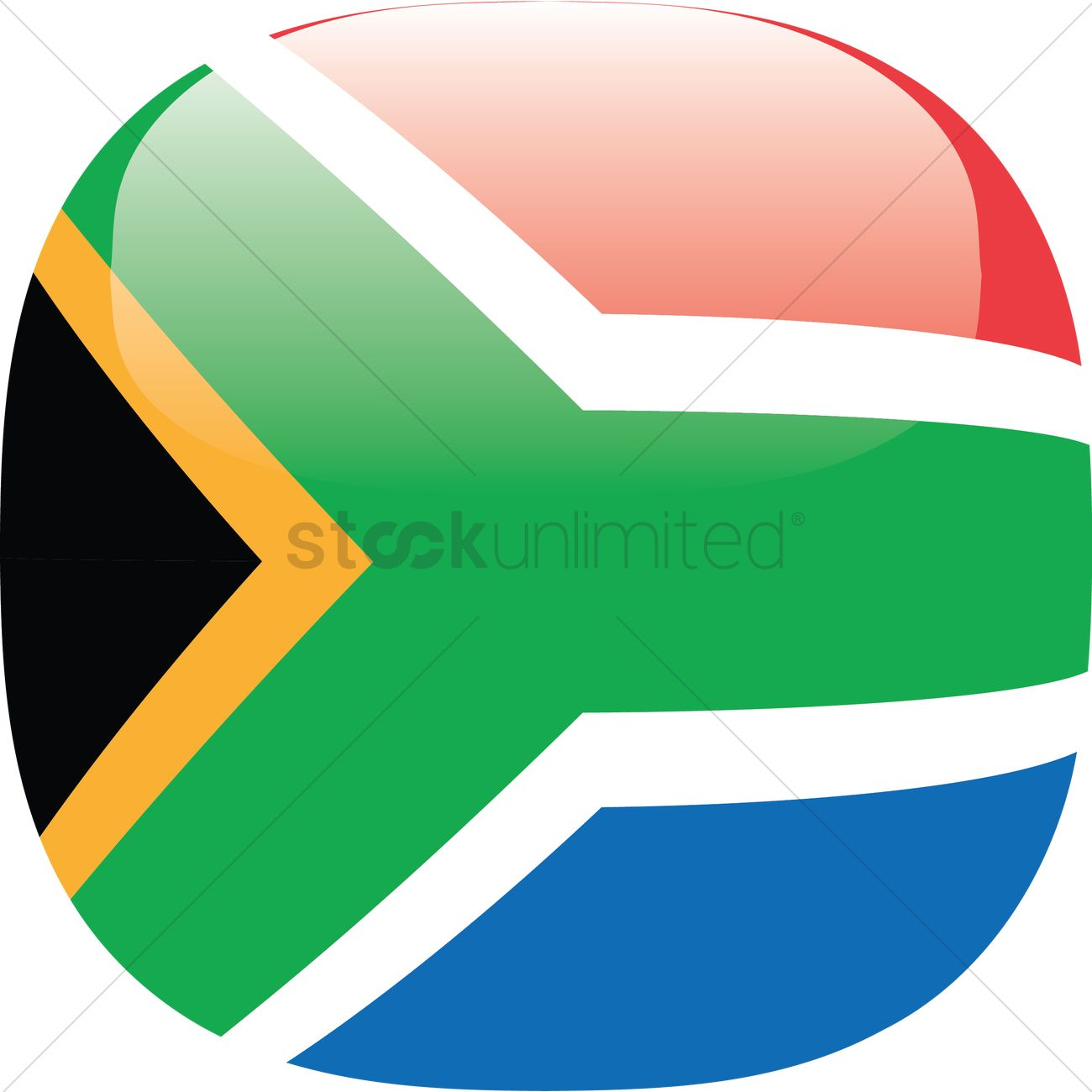 1300x1300 South Africa Flag Vector Image