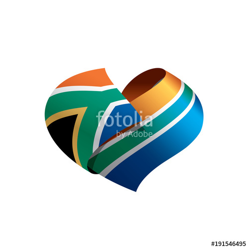 500x500 South Africa Flag, Vector Illustration Stock Image And Royalty