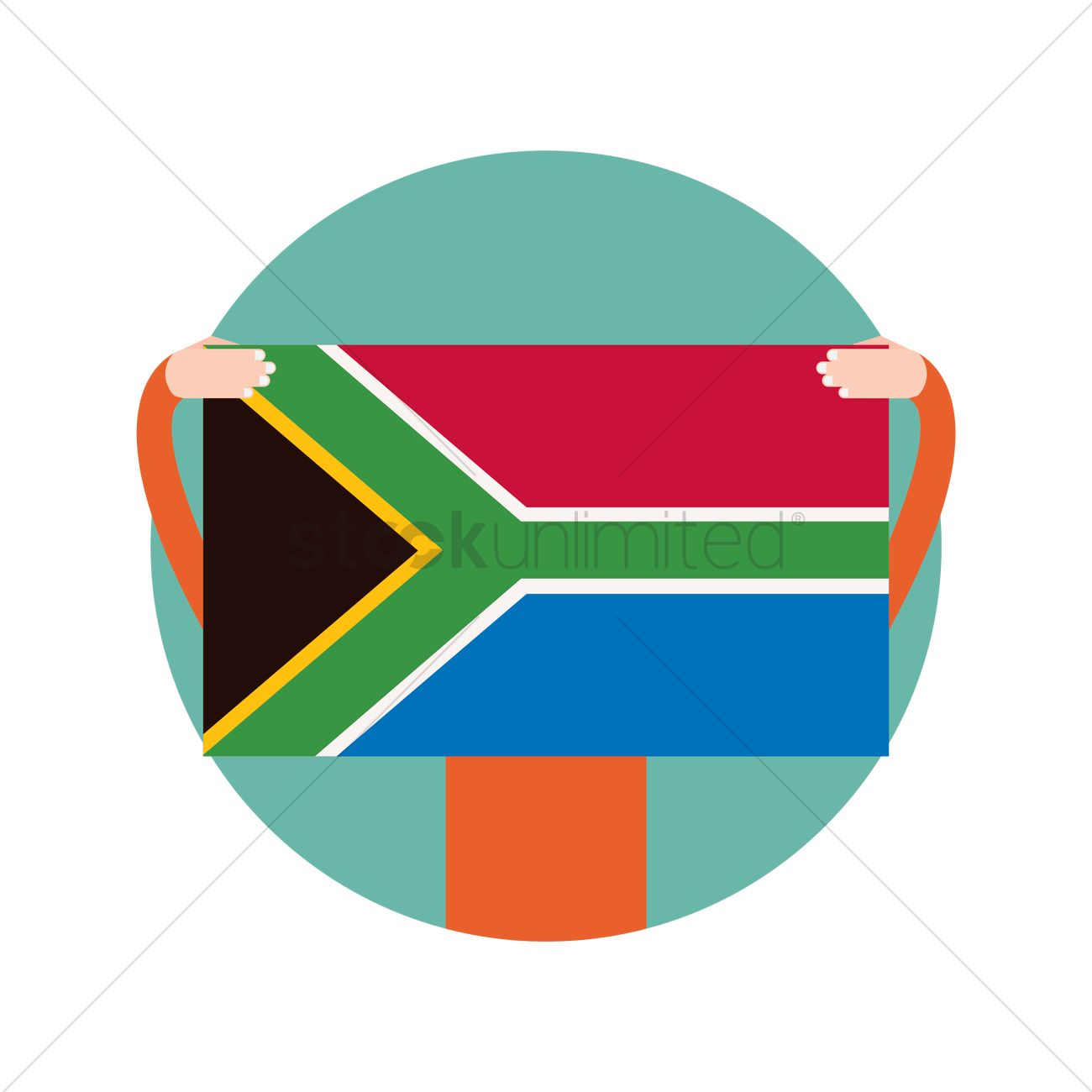1300x1300 Hands Holding A South Africa Flag Vector Image