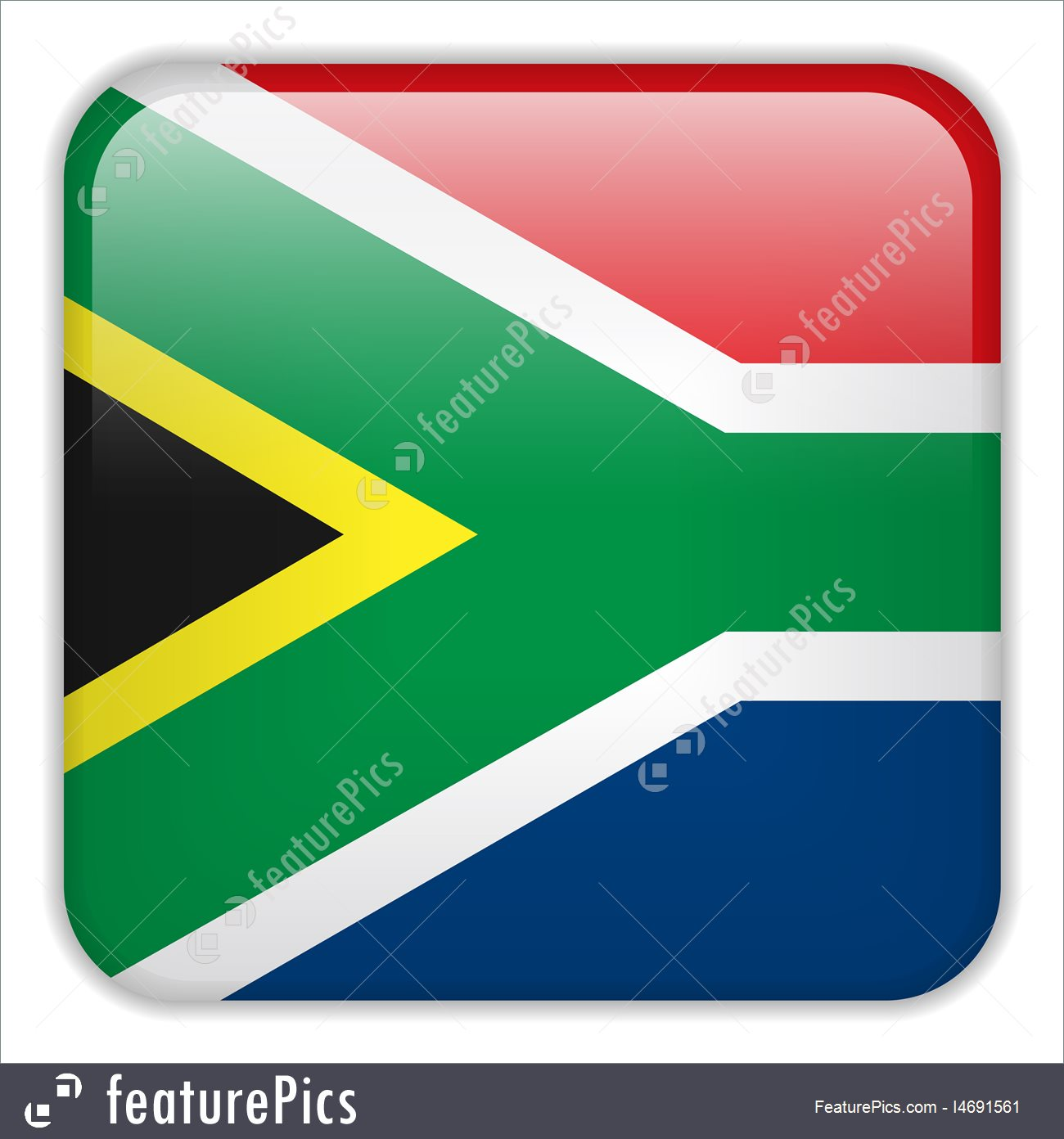 1300x1392 Illustration Of South Africa Flag Smartphone Application Square