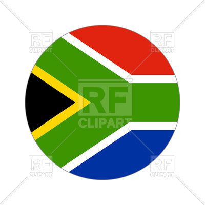 400x400 Round Icon Of South Africa Flag Vector Image Vector Artwork Of