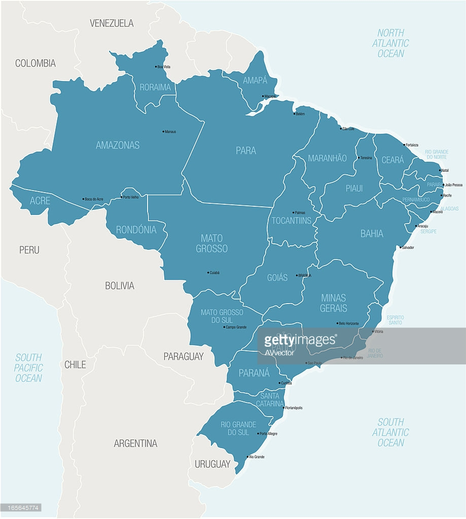 919x1024 Map Of Northern South America Highlighting Brazil Vector Art