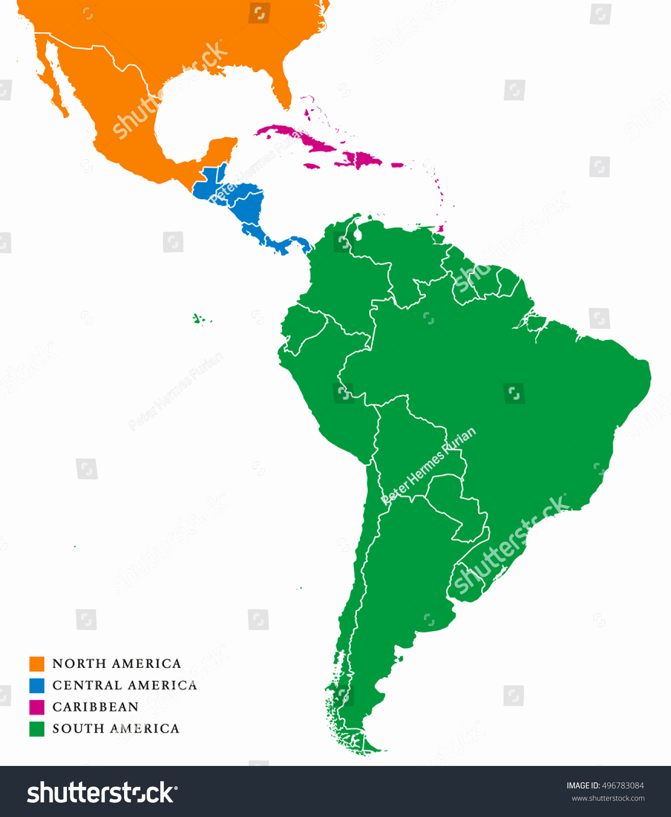 1314x1600 Map Of North And South America Vector Awesome Latin America